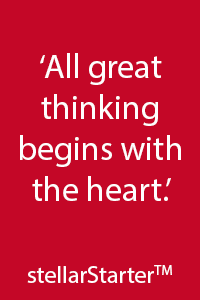 All great thinking behinds with the heart